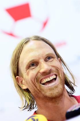Mit der Nati in Russland und im Klub bald bei Gladbach: Noch-FCB-Verteidiger Michael Lang hat gut lachen.