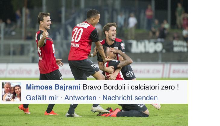 Die Frau von Livio Bordoli kritisierte die Spieler des FC Aarau via Facebook.