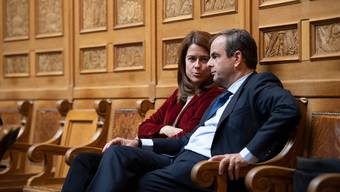 FDP-Präsidentin Petra Gössi und CVP-Präsident Gerhard Pfister: Die Vertreter der beiden Parteien mit dem grössten Linksrutsch zwischen 2015 und 2019. B(ild: Anthony Anex/Key)