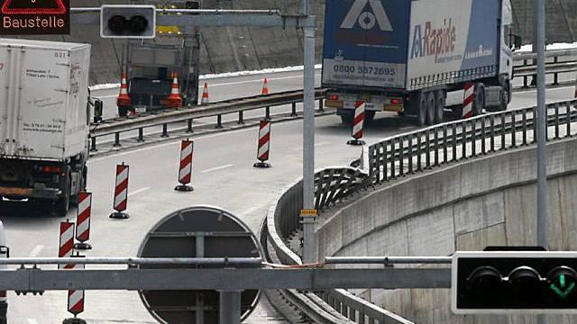 Autobahn wieder einspurig befahrbar