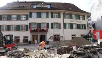 Noch ist der Kurplatz eine Baustelle – 2021 wird im traditionsreichen Quartier ein Fest stattfinden.