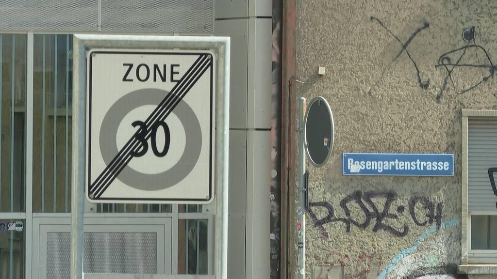Politischer Lärm wegen Tempo 30 auf der Rosengartenstrasse
