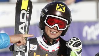 Anna Fenninger befindet sich in Are auf bestem Weg zum Sieg