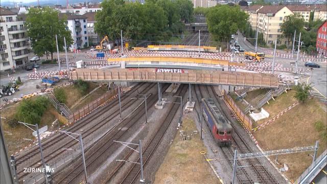 Spektakuläre Baustelle: 90-jährige SBB-Überführung muss weichen