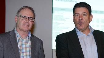 Gregor Schneiter (l.) muss mit dem Steuererhöhungsbegehren auf Antrag von Andreas Rüegger in eine zweite Runde.