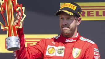 Sebastian Vettels säuerliche Miene auf dem Podest in Montreal