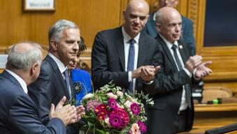 «Wieder mehr der Freiheit zuzwinkern»: Didier Burkhalter nimmt Abschied vom Bundesratsamt.
