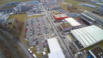 Die Bell AG baut an der Dünnernstrasse aus und plant ein Parkhaus und ein neues Logistikzentrum (grüner Bereich, oberer Bildrand).