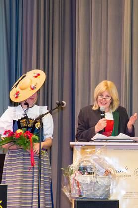 MV Wohlen, Marianne Zwölfer, Bürgermeisterin der Wohler Partnergemeinde Lermoos, gratulierte auch