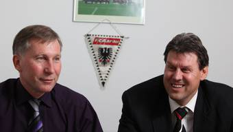 FCA-Präsident Alfred Schmid (links) und Roger Geissberger (Vize-Präsident). Archiv/Chris Iseli