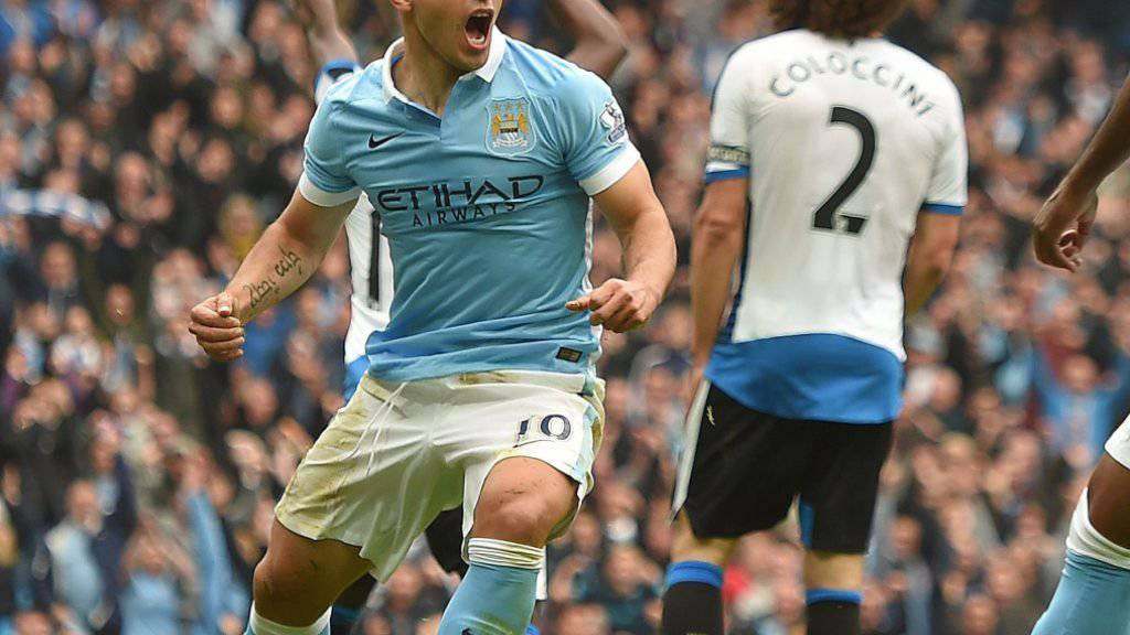 Sergio Agüero schoss Newcastle im Alleingang ab