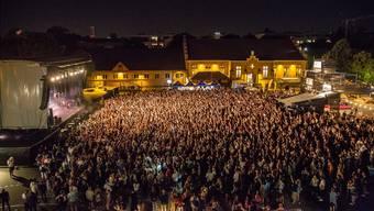 Das Open Air Basel füllte den Hof der Kaserne mit Musikfans.