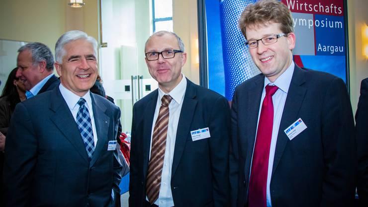 Roman Kuhn (AKB), Stefan Elmiger und Andreas Güller (beide Gruber Partner AG).