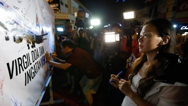 Gedenken in Kuala Lumpur - Frau eines vermissten MH370-Passagiers