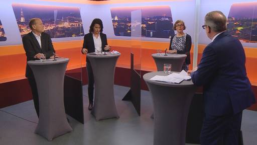 Wahlkampf-Talk «Bäregrabe»: Aebersold, Richner, Jans-Troxler
