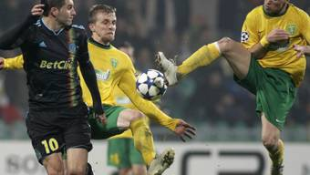 Marseille-Stürmer Andre-Pierre Gignac (l.) erzielte gegen Zilina drei Tore