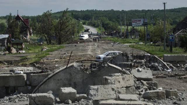 Zerstörungen durch Kämpfe bei Slawjansk (Archiv)