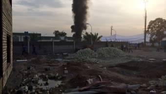 Rauch steigt auf in Bagdad
