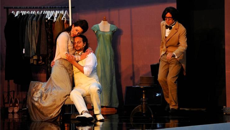Szene von der Premiere der Operette «Die Fledermaus» in Burgäschi.