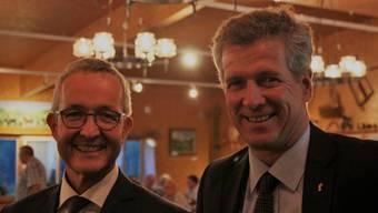 Thomas Weber und Thomas de Courten wurden von der SVP Baselland einstimmig als Regierungskandidaten gewählt.