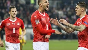 Haris Seferovic lieferte gegen Belgien ein herausragendes Spiel ab und schoss in seinem 59. Länderspiel erstmals drei Tore