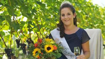 Sabrina Meier ist die erste Wykönigin in der Geschichte des Weinbaudorfes Tegerfelden.