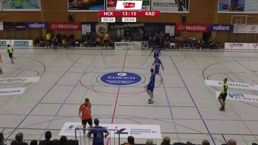 HC Kriens-Luzern - Schaffhausen - die ominöse 36. Minute