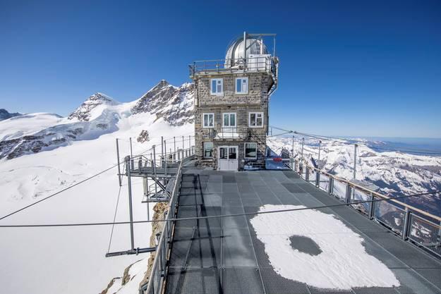 Das verwaiste Jungfraujoch.