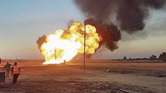 Der Anschlag traf eine Gas-Pipeline bei Damaskus.