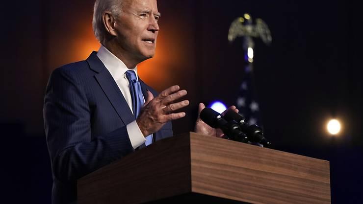 dpatopbilder - Joe Biden hat übereinstimmenden Berichten zufolge die US-Wahl gewonnen. Foto: Carolyn Kaster/AP/dpa