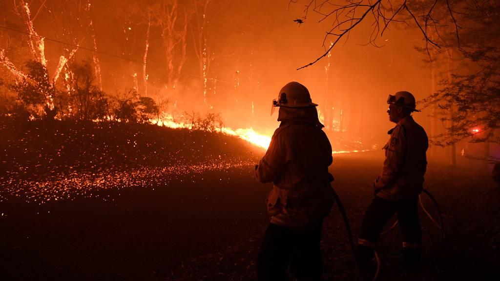 Australische Feuer hüllen Sydney in Rauch