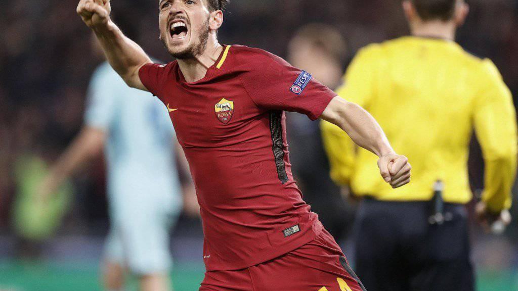 Alessandro Florenzi brachte die AS Roma auf Kurs