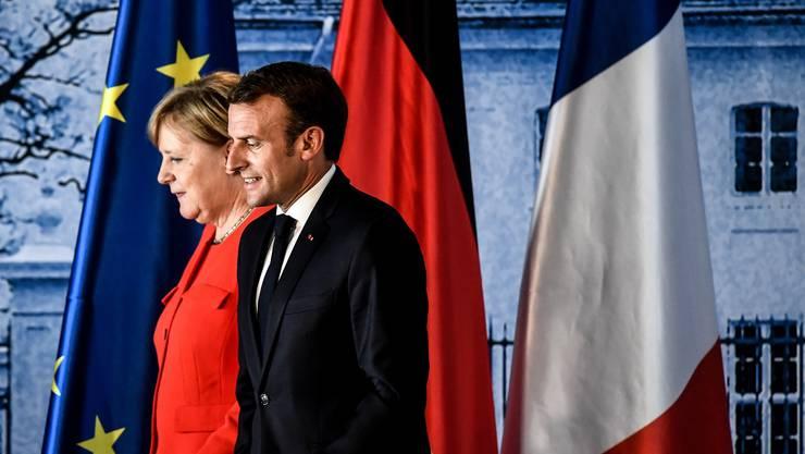 Angela Merkel und Emmanuel Macron sind weiterhin ein Team.