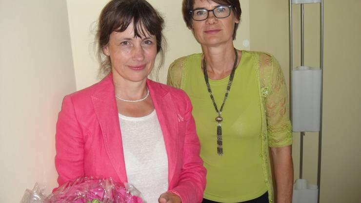 Referentin Martina Sigg und Susanna Schlittler, Präsidentin FDP Frauen Fricktal