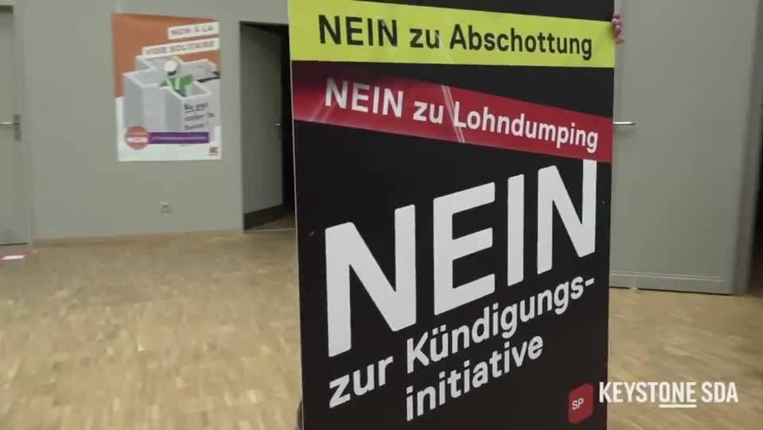 Überparteiliche Mitte-Links-Allianz kämpft gegen SVP-Begrenzungsinitiative