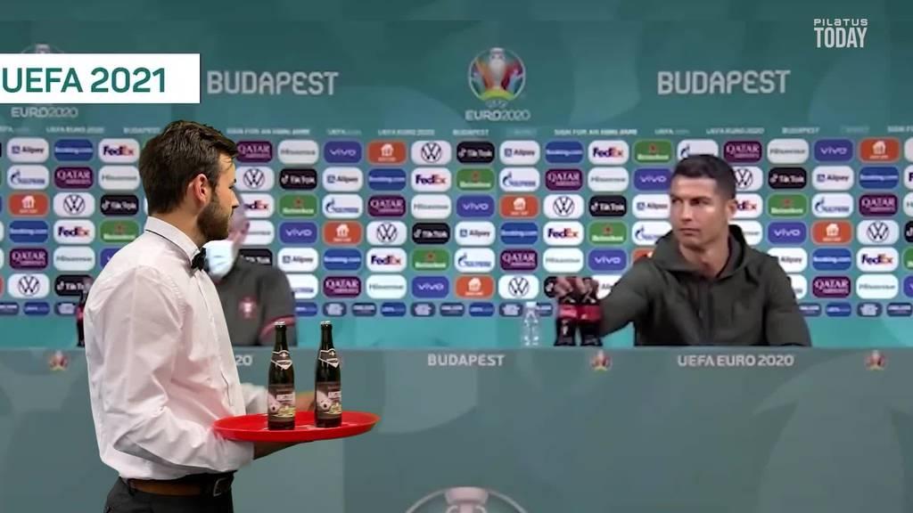 Ronaldo schiebt Cola beiseite und geniesst lieber Zuger Bier