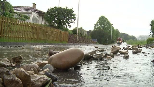 Überschwemmungen im Aargau