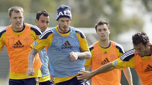 David Beckham ist zurück im Training