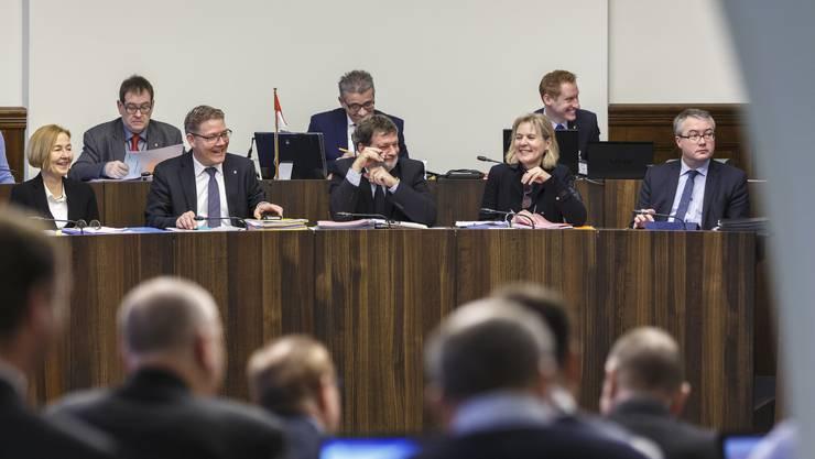 Der Regierungsrat v.l. Susanne Schaffner, Roland Fürst, Roland Heim, Brigit Wyss, Remo Ankli