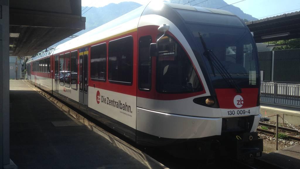 Zentralbahn sperrt Strecke Sarnen-Meiringen