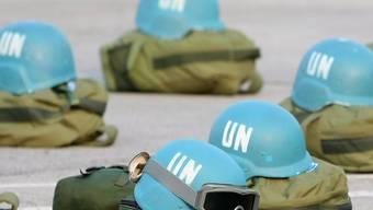 Ausrüstung von Mitgliedern der UNO-Blauhelmtruppe MINUSTAH auf Haiti (Archiv)