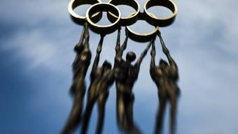 Die olympischen Ringe vor dem IOC-Hauptquartier in Lausanne.