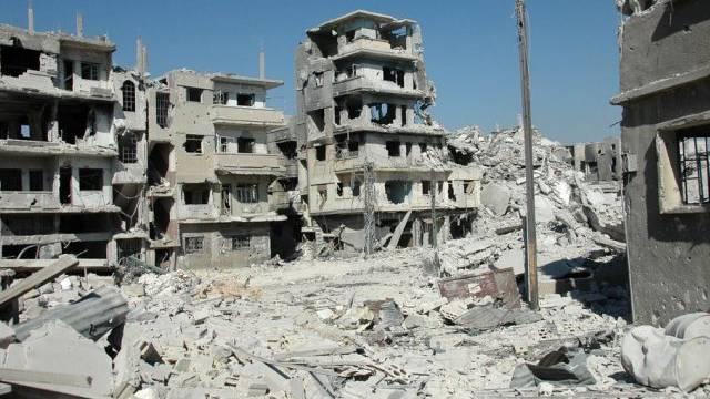 Häuser im Chalidija-Viertel von Homs