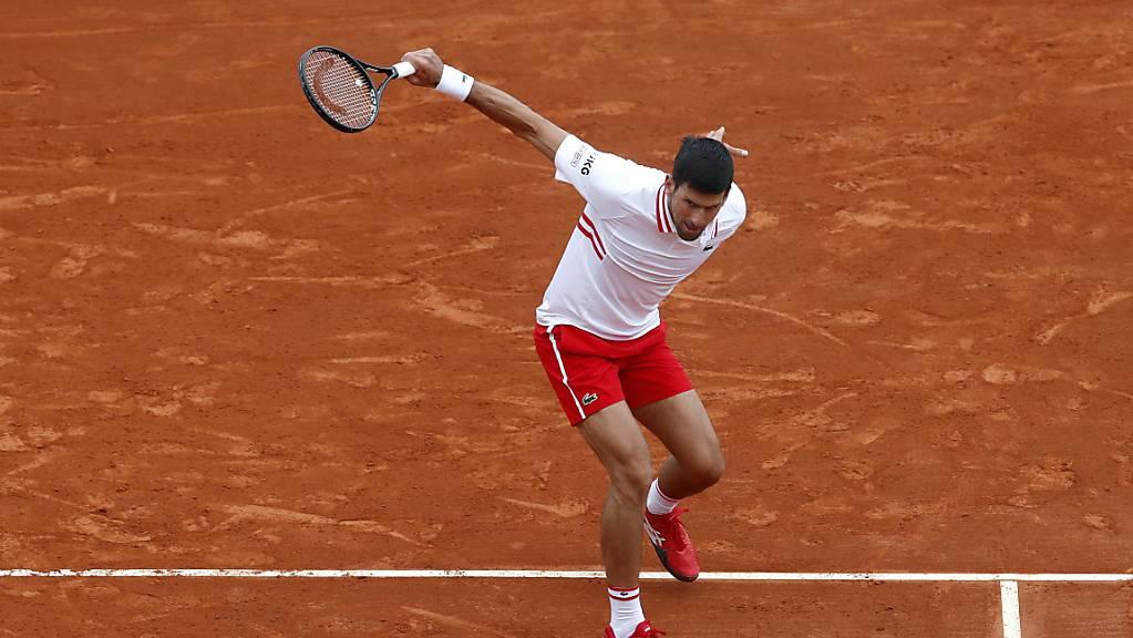 Novak Djokovic unterliefen zu viele Fehler in seinem zweiten Match in Monte-Carlo