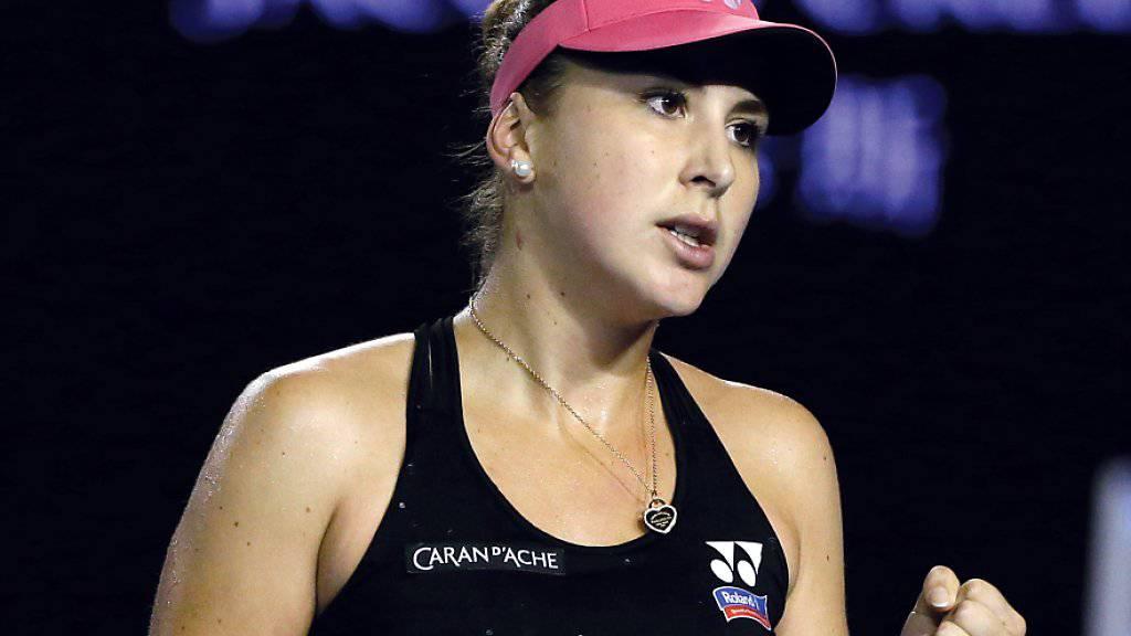 Belinda Bencic gab in Melbourne in der dritten Runde erstmals einen Satz und drei Aufschlagspiele ab.