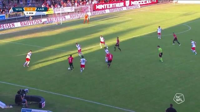 Challenge League 2018/19, 2. Runde, FC Winterthur - FC Aarau 3:1 Highlights