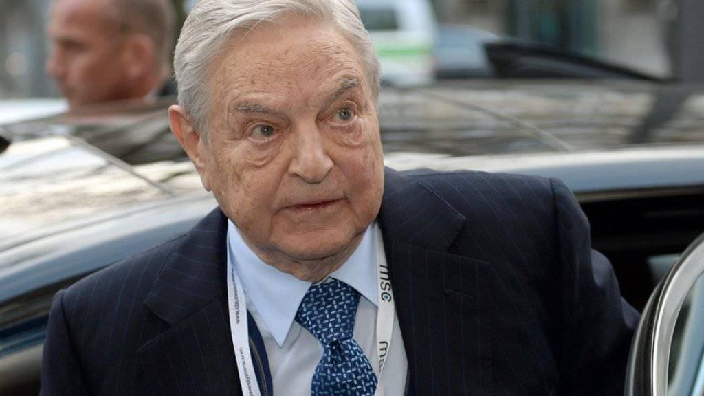 """Seine Stiftung verlässt Ungarn wegen """"repressiver"""" Politik: George Soros, US-Investor mit ungarischer Herkunft und Erzfeind von Ungarns Machthaber Viktor Orban (Archiv)"""