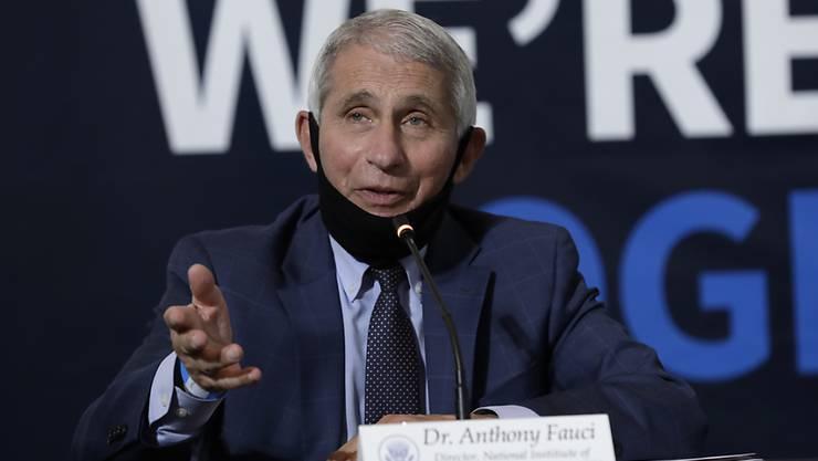 Der US-Gesundheitsexperte Anthony Fauci, erwartet, dass bis Ende 2020 ein Impfstoff für Coronaviren vorliegt. (Archivbild)