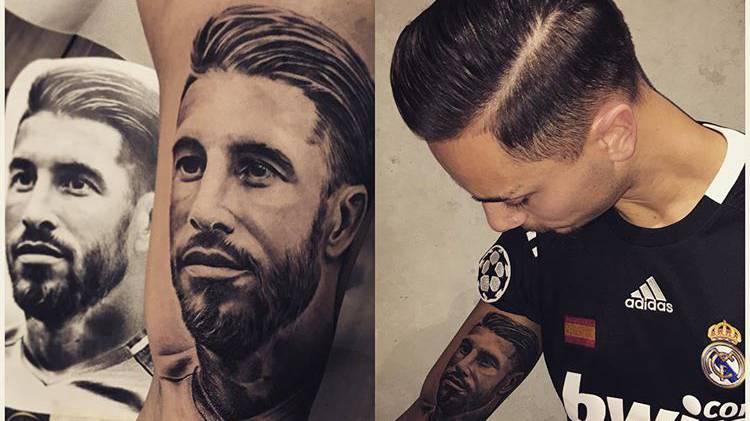 Atif hat Sergio Ramos Tattoo