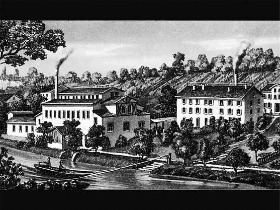 So sah das Oederlin-Areal im Jahr 1867 aus.